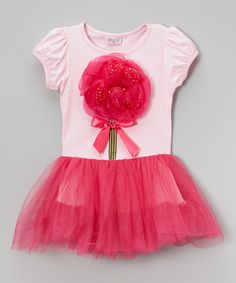 Love this Wenchoice Hot Pink Flower Tutu Dress - Infant, Toddler & Girls by Wenchoice on #zulily! #zulilyfinds