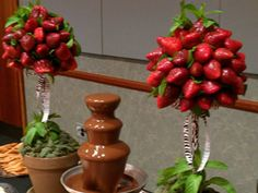 strawberry bouquet for chocolate fountain
