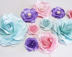 This template assists you to make up our Koko Range Small sized roses rose Brilliant for Events, Weddings, Parties and Home Decoration Template includes outer petals and bud centrepiece PDF Templates are for printing to your home printer or print shop. Paper Flower Decor, Large Paper Flowers, Paper Flowers Wedding, Paper Roses, Wedding Paper, Flower Crafts, Flower Decorations, Table Decorations, Diy Paper