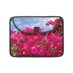 Bougainvillea and Beautiful Blue Sky Sleeve For MacBook Pro    *This design is available on several other products.