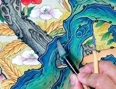 이문성 작가와 함께하는 궁중화조도 그리기 Ⅲ | 월간민화 Korean Painting, Folk Art, Decoupage, Buddha, Projects To Try, Princess Zelda, Asian, Traditional, Artwork