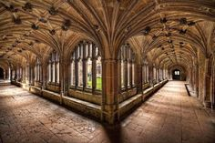 Cloisters at Lacock Abbey in Wiltshire ~ Harry Potter...UK