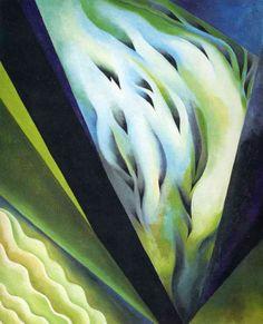 Georgia O'Keeffe-blue and green music-1919