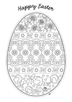 Easter egg cut out pattern