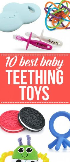 This list of 10 Best Baby Teething toys is so great! Includes lots of great ideas here.