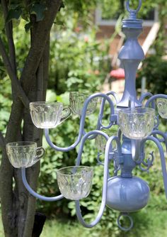 Lilac Planter Chandelier by nevastarr on Etsy, $219.95
