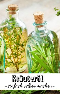 Herbal oils are simply indispensable in the kitchen. Luckily, you can easily make your own herbal oil yourself. + Kräuteröle sind in der Küche einfach unve Kneading Dough, Sauce Barbecue, Herbal Oil, Infused Oils, Kraut, Salmon Recipes, Other Recipes, Diy Food, Natural Oils