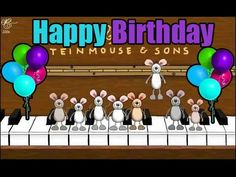 Feliz cumpleaños a ti (ratoncitos tocando el piano) Vídeo completo Happy Birthday Animated Cards, Happy Birthday Song Video, Happy Birthday Piano, Funny Happy Birthday Wishes, Birthday Wishes Cards, Birthday Songs, Singing Happy Birthday, Happy Birthday Images, Happy Birthday Greetings