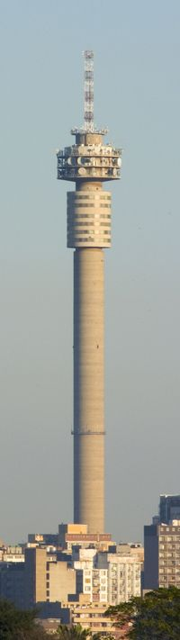 Hillbrow-Tower, Johannesburg The Hillbrow Tower is a tall tower located in the suburb of Hillbrow in Johannesburg, South Africa. At 269 m (883 ft), it was the tallest structure and tower in Africa for 40 years,  it was also the tallest structure in the Southern Hemisphere until 1978. Home now to TELCOM a Communications Company.