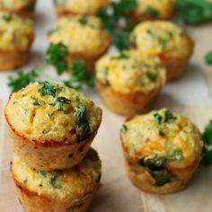 Quinoa Spinach Omelette Bites | Everybody Loves Pretty