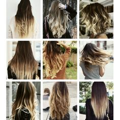 Ombré/dip dye trend with brown to blond hair