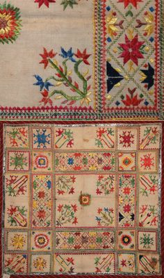 Antique Indian Silk Embroidery. 1800 - 1900 A.D