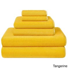 New Yellow 6 Piece Bath Towel Set Washcloth Bathing Bathroom Hand Towels Cotton - Go Shop Home & Garden Hand Towels Bathroom, Bath Towel Sets, Bath Towels, Yellow Baths, Yellow Towels, Orange Bathrooms, Apartment Makeover, Cotton Towels, Washing Clothes