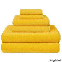 New Yellow 6 Piece Bath Towel Set Washcloth Bathing Bathroom Hand Towels Cotton - Go Shop Home & Garden Hand Towels Bathroom, Bath Towel Sets, Bath Towels, Yellow Baths, Yellow Towels, Apartment Makeover, Linen Store, Bath Linens, Turkish Towels