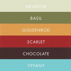 Love this color palette and could incorporate the red couch! Any excuse to use the tiffany color! Possible color scheme for living room? Colour Schemes, Color Combos, Pantone, Color Sprinkle, Fall Color Palette, Colour Palettes, Paint Palettes, Fall Wedding Colors, Autumn Wedding