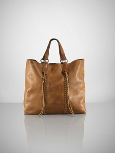 Ralph Lauren Collection Leather Laced Tote