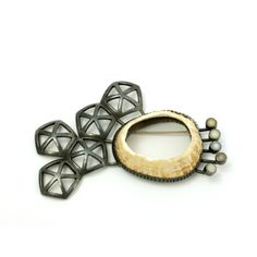 Nicole Schuster - sterling silver, pearls, shell, steel