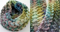 [Free Pattern] Braided Hairpin Lace Infinity Scarf