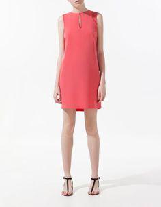 DRESS WITH FRINGES ON BACK - Dresses - Woman - ZARA United States