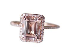Rlovehome Emerald Cut 7x9mm 1.75ct Light Pink Natural VS Morganite Diamonds Engagement Ring Set Wedding Ring Set Anniversary Ring Set in Solid 14k Rose Gold (J) Rlovehome http://www.amazon.co.uk/dp/B01B13VDW8/ref=cm_sw_r_pi_dp_sy77wb0J7QNSG