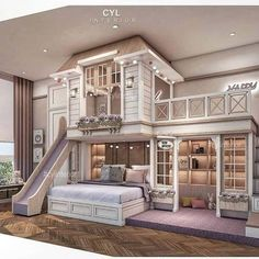 Kids Bedroom Designs, Room Design Bedroom, Nursery Room Decor, Magical Bedroom, Mission Style Homes, Princess Bedrooms, Awesome Bedrooms, Coolest Bedrooms, House Construction Plan