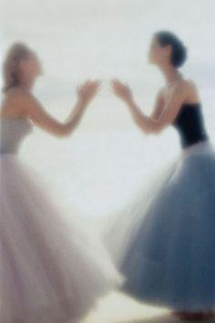 Photo: Nick Knight. Models: Amber Valletta and Shalom Harlow. Vogue UK ('Sweet Dreams'), May 1995.