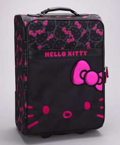 HK |❣| HELLO KITTY Pink & Black Carry-On