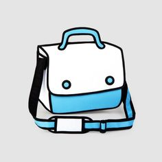 I'd rock this!!! [JumpFromPaper is a playful and innovative line of handbags made to look like 2D cartoons.]