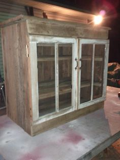 Reclaimed Barn Wood Bar by http://www.facebook.com/pages/The-Next-Best-Thing/207543535924610 Thanks, Mike.