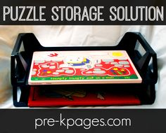 Cheap Puzzle Storage Solution