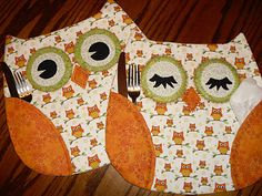 cutest owl placemats! super duper want.
