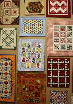 Doll Quilts... Temecula Quilt Co - Sun bonnet sue, grandmother's flower garden, double Irish chain