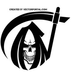 Skull of death vector image.