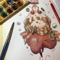 WEBSTA @ mrdanidiez - One of the original drawings that I'm sending with #draftsmansclose 😀 watercolor and pencils! Do you like it guys?