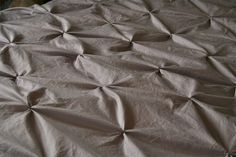 pintuck duvet cover from rit dyed sheets. A super simple tutorial