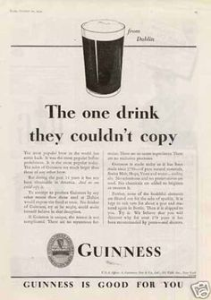 Analysis of the guinness advertising