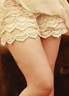 White Hollow Lace Shorts.............Not sure if these are undershorts or actual shorts