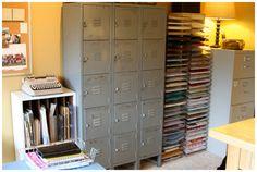 lockers, paper storage