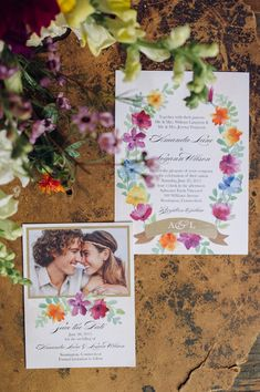 floral wedding invitations // photo by Christina Lilly, invitations by Wedding Paper Divas // http://ruffledblog.com/from-invitation-to-inspiration-by-wedding-paper-divas/