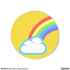 Shop Rainbow Classic Round Sticker created by Latin_Expressions. Cool Stickers, Round Stickers, Laptops, Make Your Own, Rainbow, Windows, Cars, Cool Stuff, Logos