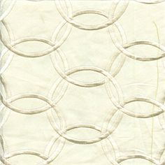 Inner Circle Ivory Embroidered Contemporary Drapery Fabric - 47910 - Buy Fabrics - ($14.95, less than half of others)