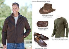 Men's Martin Lambskin Leather Jacket by Overland Sheepskin Co. (style 29321)