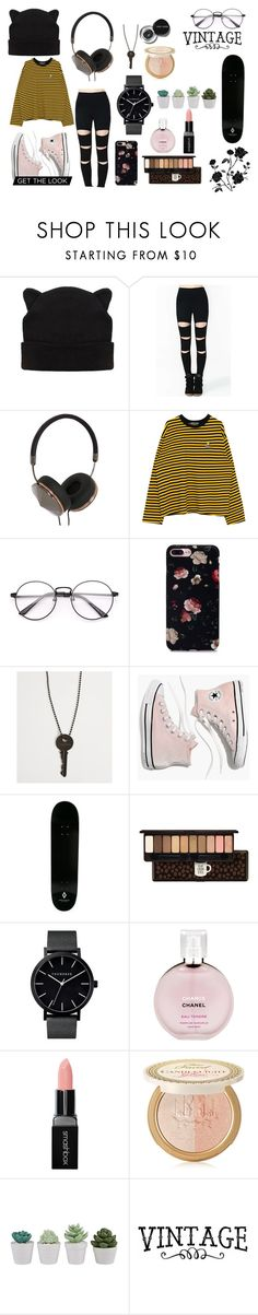 """""""Untitled #107"""" by juliustheunicorn on Polyvore featuring Frends, The Giving Keys, Madewell, County Of Milan, Etude House, Bobbi Brown Cosmetics, Chanel, Smashbox and Too Faced Cosmetics"""