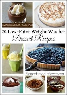 20 Weight Watchers Dessert Recipes - Low-point dessert recipes. All of theses weight watchers dessert recipes have less than 4 point plus. by josie