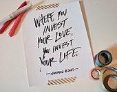 Love Quote, Lyric Quote, Awake My Soul, Mumford & Sons, Wedding, Valentines, Typography Quote, 8x10 Print,