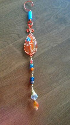 Wire wrapped beaded sun catcher Tree of life.