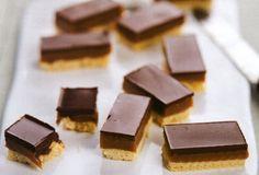 Barras de Leite Condensado e Chocolate