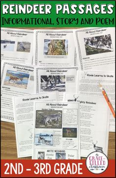 This Christmas season have your students read all about reindeer. This resources includes 3 text types: informational text, a fictional story and a fictional poem. Engage your students in a seasonally-relevant topic!