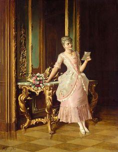 The Love Letter by Isidor Kaufmann (Austrian, 1853-1921). Oil on panel.