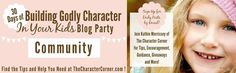 Check out this great Blog Party coming in September. It's called 30 Days of Building Godly Character in Your Kids. There will be a post on dealing with anger by Ed Miller. #character #heartparenting https://www.facebook.com/groups/148046802440430